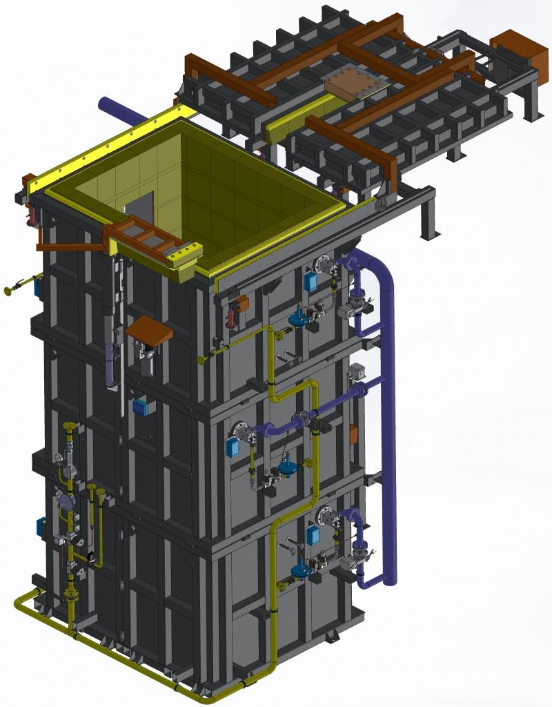 Шахтная печь с газовым нагревом ГПШ 20.10.50д7И1
